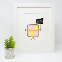 Eat more Battenberg Print