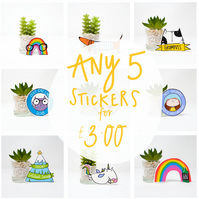 5 Illustrated stickers