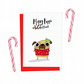 Mr Puggins the Pug Christmas card