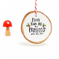 Prosecco Christmas decoration