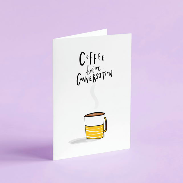 Sorry for what I said before coffee card.