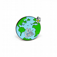 Be Kind World enamel pin badge