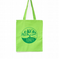 Forest Canvas Bag, Tree bag, screen printed bag