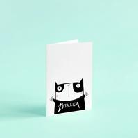 Metallica cat card