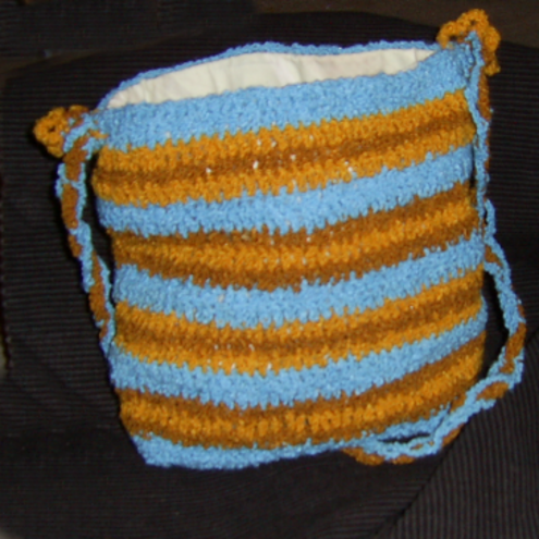 Turquoise and Ginger bag