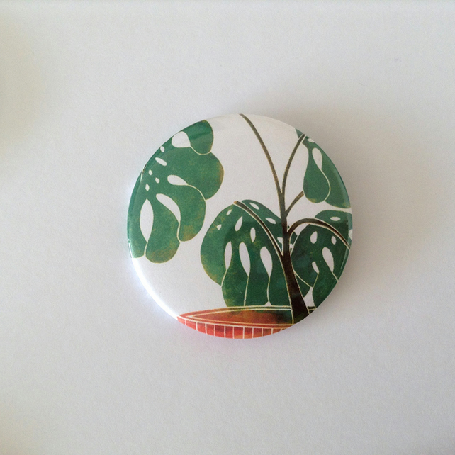 Swiss Cheese Plant Pocket Mirror
