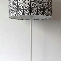 30cm Black and White Lampshade