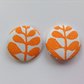 47mm Orange Money Tree Buttons