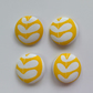 38mm Yellow Leaf Buttons