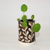 Mini Black and White Botanical Pots