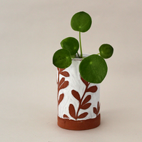 Mini Terracotta and White Botanical Pots