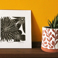 Flowers No 5 - Original Lino Print