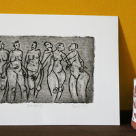 Six Ways - Original Collagraph Etching
