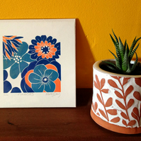 Flowers No 3 - Original Lino Print