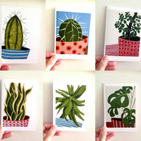 Set of 10 Botanical Cards