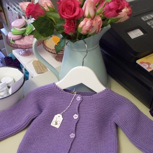 lavender/lilac baby cardi