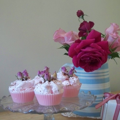 Strawberry & Champagne Soap Cupcakes