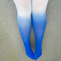 Kendall Blue Seduction Ombre Dip Dye Tights