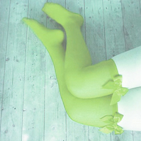 Bailey Lime Squeeze Bows Thigh High Stockings