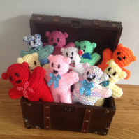 hand knitted  Mini teddy bears , ideal  for birthdays, Easter and special days