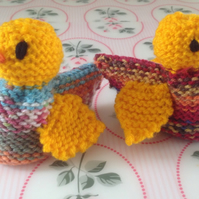Easter Egg cosies,  knitted gift. Chicks,