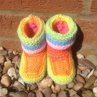 Baby bootees, multicoloured ,baby slipper, shoes, unisex gift, shower, new born