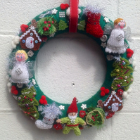 Christmas wreath, wall hanging, door wreath, advent kranz,decoration,gift,