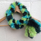 Green fluffy scarf, infinity scarf, Mother's Day , Easter loop scarf