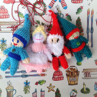 Christmas elf,Santa, fairy gnome,  pixie,hanging decorations,tree decoration,