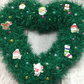 Heart wreath,Christmas, green tinsel, sparkly, window hanging, wall hanging,