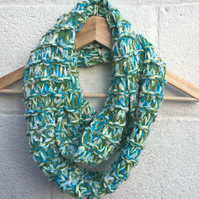 Mother's Day gift, spring , Easter,  green scarf, cowl, snood , infinity scarf
