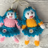 A pair of mini hanging fairies ,hand crafted gift,Christmas,new home, birthday,