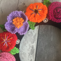 Frida Kahlo inspired wreath, Bohemian , boho wreath , bedroom wreath