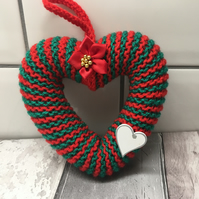 Heart wreath,Christmas, hanging decoration,window hanging, wall hanging,