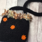 knitted handbag, black, mohair,gift, Christmas ,knitted purse,winter,bag