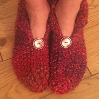 Knitted slippers, ladies  gift, woollen,  Mother's Day, valentine gift, Easter