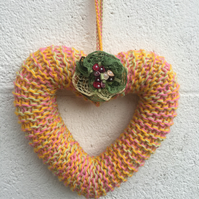 Mother's Day wreath, heart, hanging decorAtion, gift