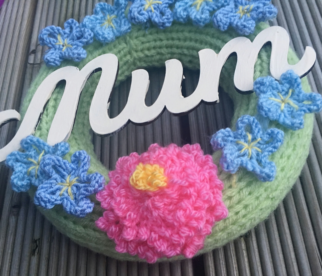 Mother's Day gift, wreath, forget me not, cherry blossom