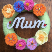 Mother's Day, gift, knitted wreath, flowers