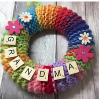 Gifts for grandma on  Mother's Day flowers wreath, wall art