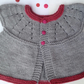 Knitted grey baby cardigan with pink edging 0-3  months, new born,sleeveless top