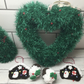 Knitted wreath and decorations set, gift for a crafter