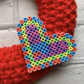 knitted wreath  with heart , valentine gift, Mother's Day , friendship