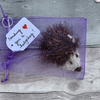 Hedgehug, hedgehog, lockdown gift , sending love, missing you,