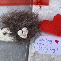 Hedgehug, hedgehog with heart  lockdown gift , sending love, missing you,