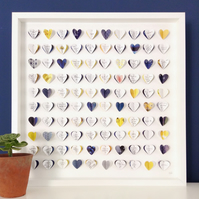 Framed Wedding Guest Book - wedding guest book alternative - navy and yellow