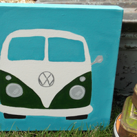 Split Screen Campervan Original Canvas