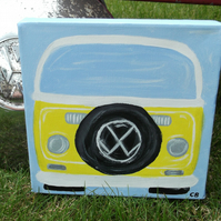 Bay Window Campervan Original Canvas