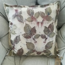 Eco printed silk cotton cushion cover 40x40