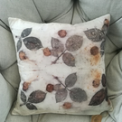 Eco printed silk cushion cover